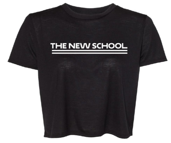 The New School Cropped Flowy Tee