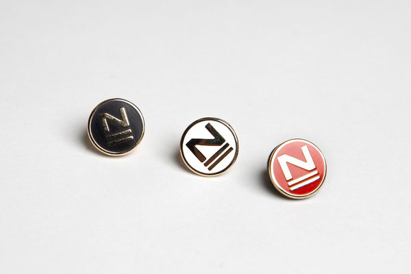 "The New School ""N"" Enamel Pin"