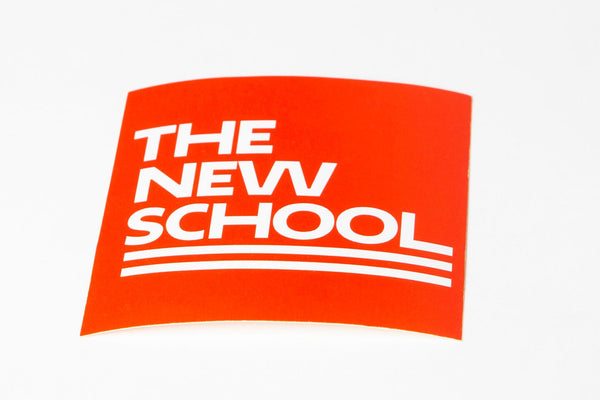 The New School Square Sticker