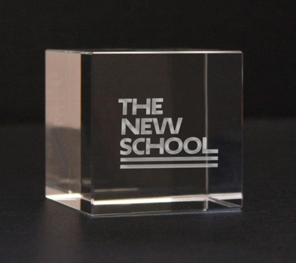The New School Glass Paperweight