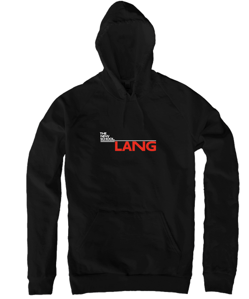 Lang Pullover Hoodie - White & Red Logo