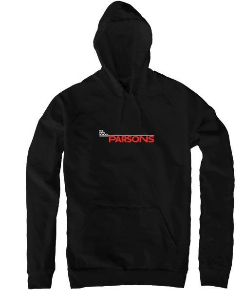 Parsons Pullover Hoodie - White & Red Logo