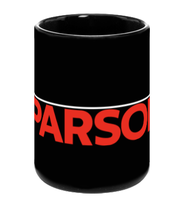 Parsons Mug - White & Red Logo