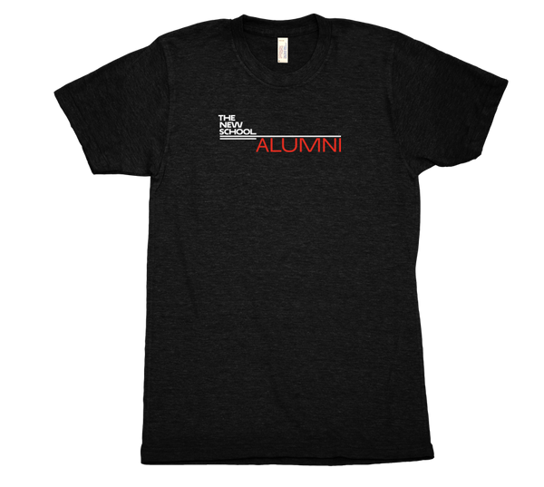 The New School Alumni T-Shirt - White & Red Logo