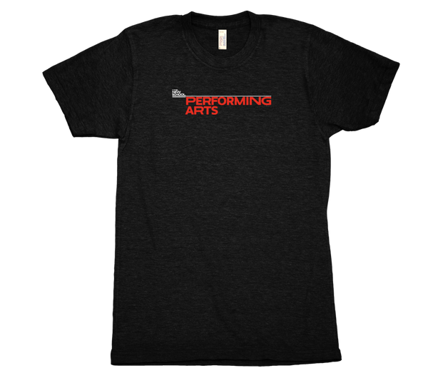 Performing Arts T-Shirt - White & Red Logo
