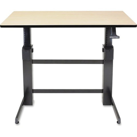 Ergotron® WorkFit-D- Sit-Stand Desk (Birch Surface)