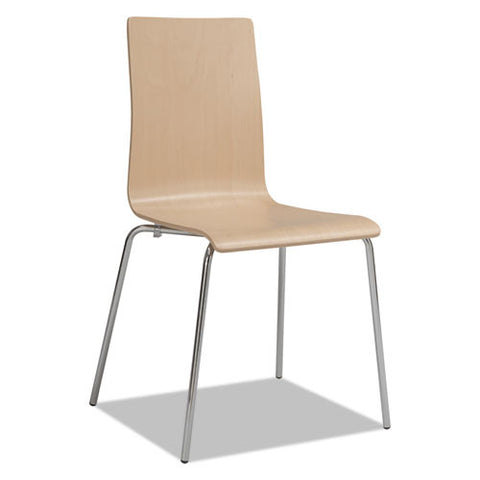 Safco® Bosk Stack Chair, Beech, 2/Carton