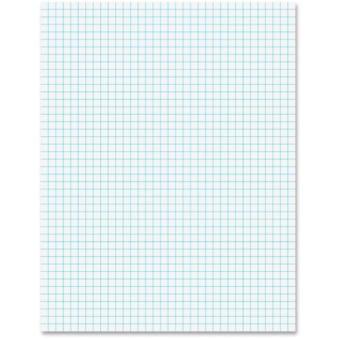 "Ampad® Faint Blue Ink Quadrille Pad 8.5"" x 11"" {50/Sheets-Pad}"