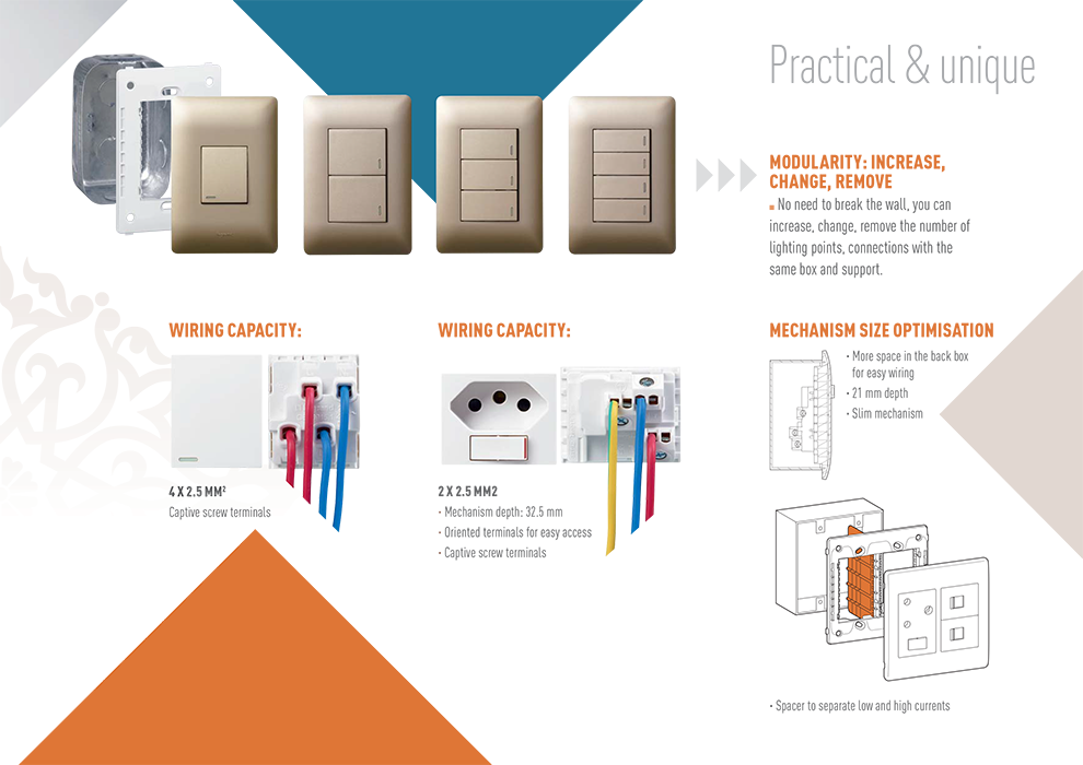 How to wire Legrand Ysalis products Switches and Sockets