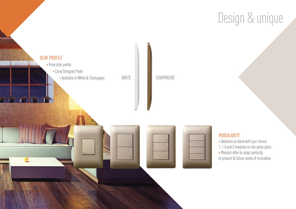 Legrand Ysalis Slim design Switches and Sockets