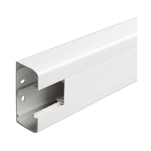 Snap-On Trunking - 1 Compartment, 2m With Cover - White