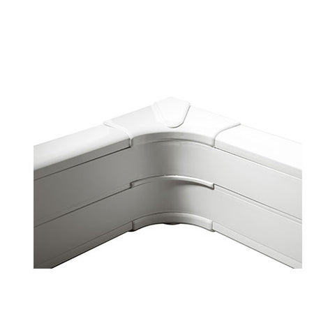Internal Bend for 2 Compartment Snap-On Trunking - White
