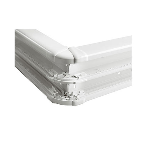 External Bend for 2 Compartment Snap-On Trunking - White