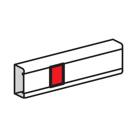Cover Joint for Snap-On Trunking - White