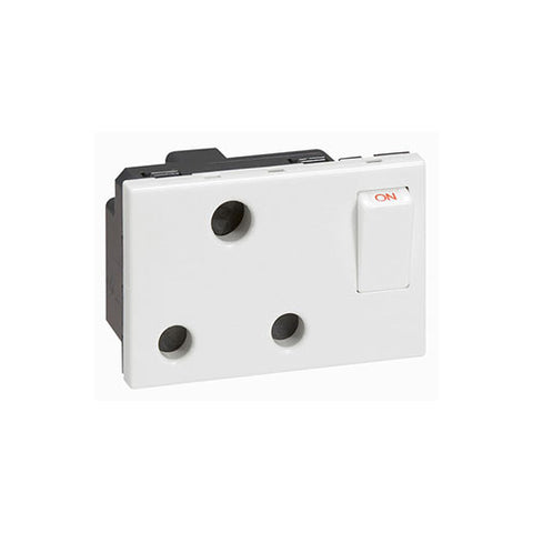 Arteor Single Switched Socket Module - White