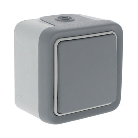 1 Lever Plexo Surface Mounted Switch - Grey
