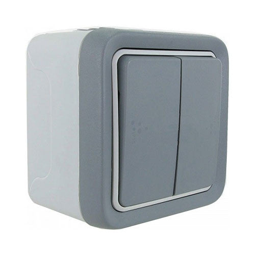 2 Lever Plexo Surface Mounted Switch Grey 69715