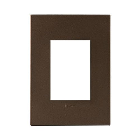 Arteor Cover Plate 3 Modules - Dark Bronze