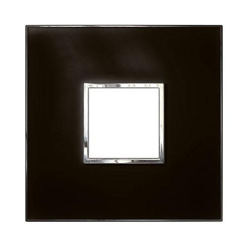 Arteor Cover Plate 2 Modules 4 x 4 - Mirror Black