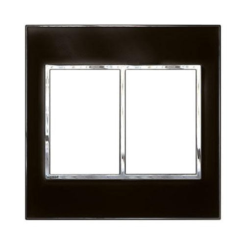 Arteor Cover Plate 2 x 3 Modules 4 x 4 - Mirror Black