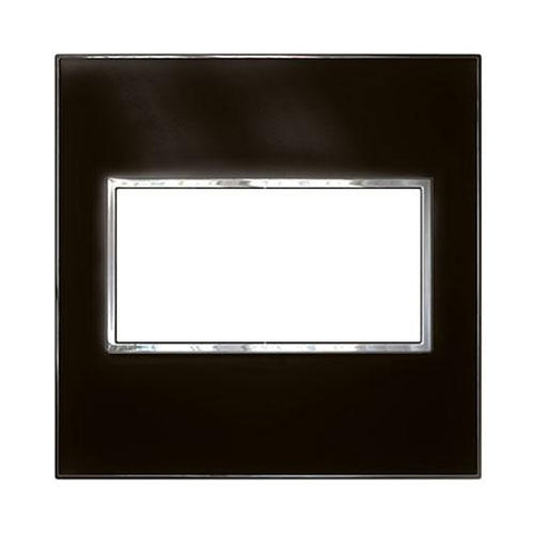 Arteor Cover Plate 4 Modules 4 x 4 - Mirror Black