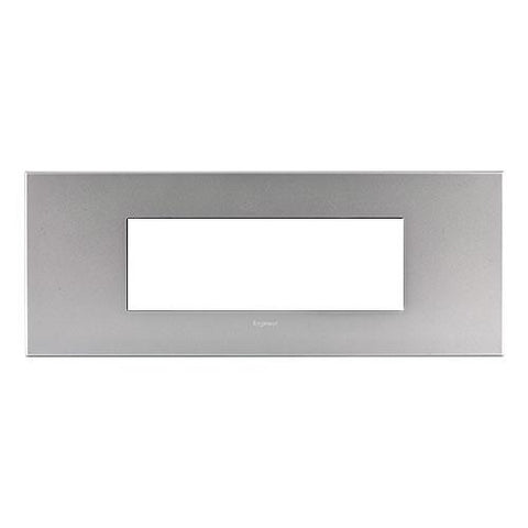 Arteor Cover Plate 6 Modules - Soft Aluminium