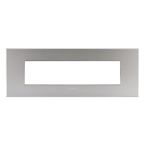 Arteor Cover Plate 8 Modules - Soft Aluminium