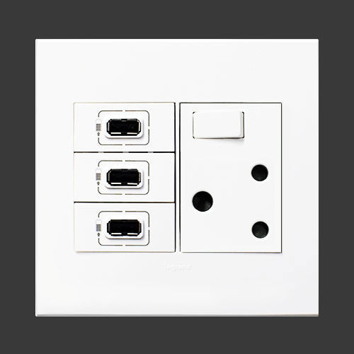 Single Switched Socket 3 X Usb Sockets White Ssusb3wwh