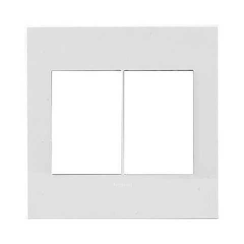 Arteor Cover Plate 2 x 3 Modules 4 x 4 - White
