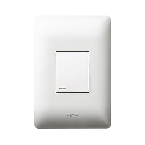 Ysalis 1 Lever Switch 2 Way - White