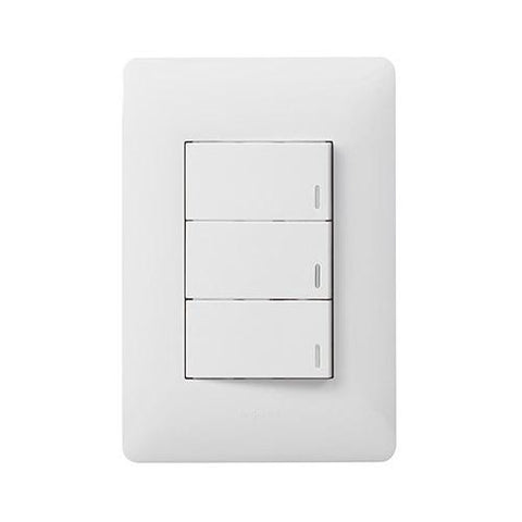 3 Lever Switch 1 x 2 Way - White