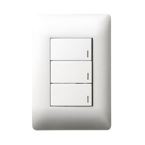 3 Lever Switch - White