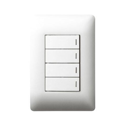 4 Lever Switch 1 x 2 Way - White
