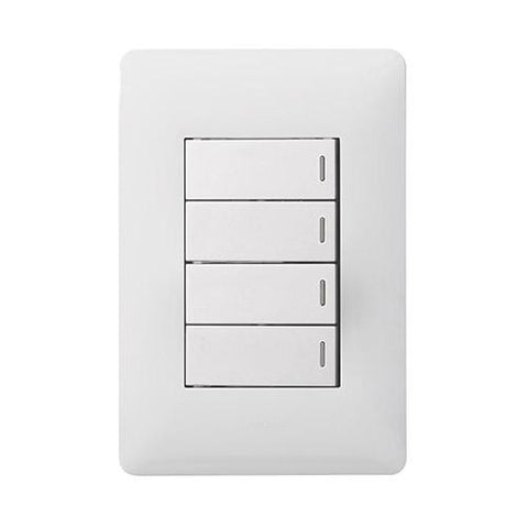 4 Lever Switch - White
