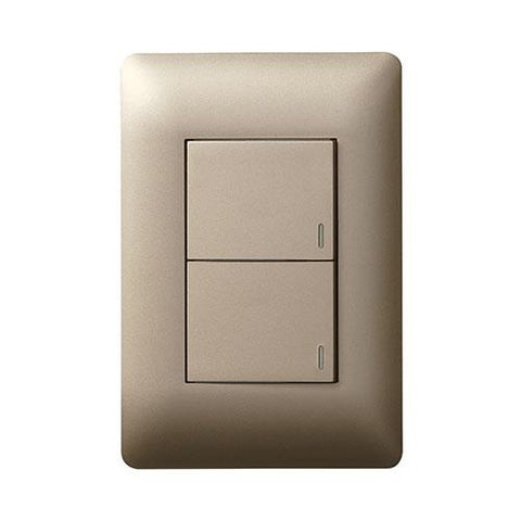 Ysalis 2 Lever Switch 1 x 2 Way - Champagne