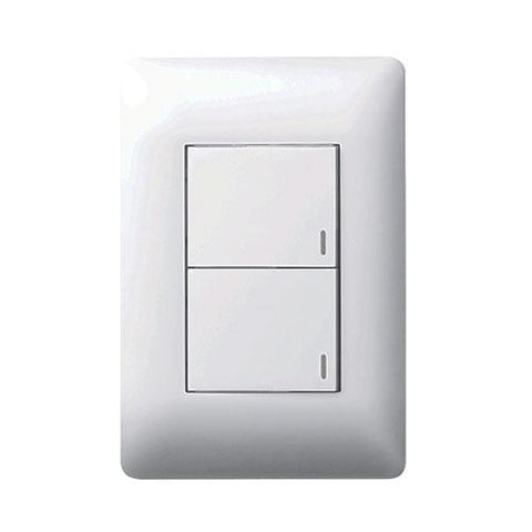 2 Lever Switch 1 x 2 Way - White