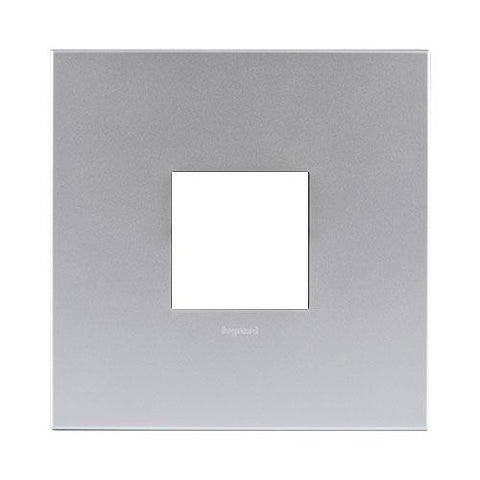 Arteor Cover Plate 2 Modules 4 x 4 - Soft Aluminium