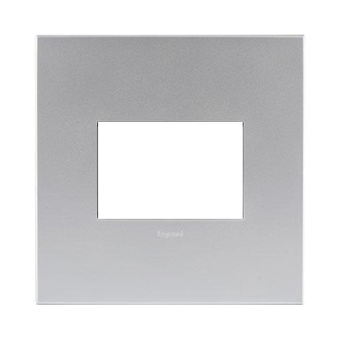 Arteor Cover Plate 3 Modules 4 x 4 - Soft Aluminium