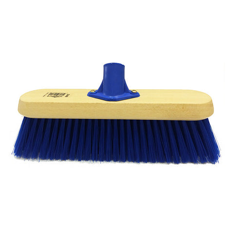 11in Poly Blue Soft Broom Head