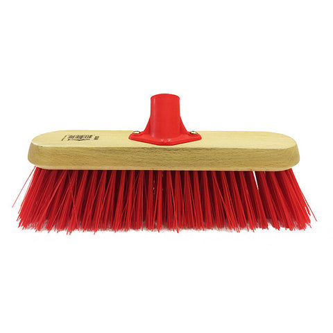 11in Poly Red Hard Broom Head