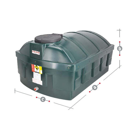 Bunded Oil Tank 1200 Litre LP12000BT