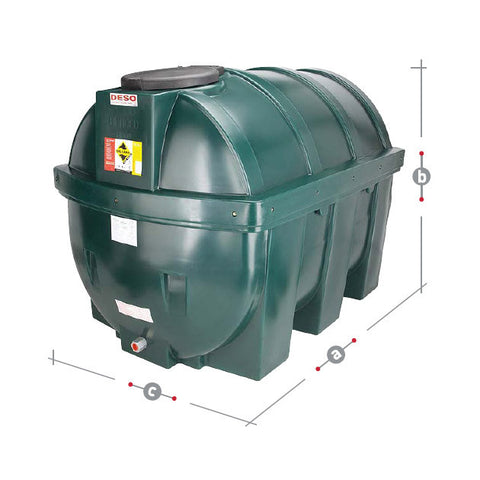 Bunded Oil Tank 1800 Litre H1800BT