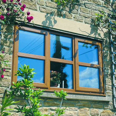 uPVC Casement Window Light Oak Large
