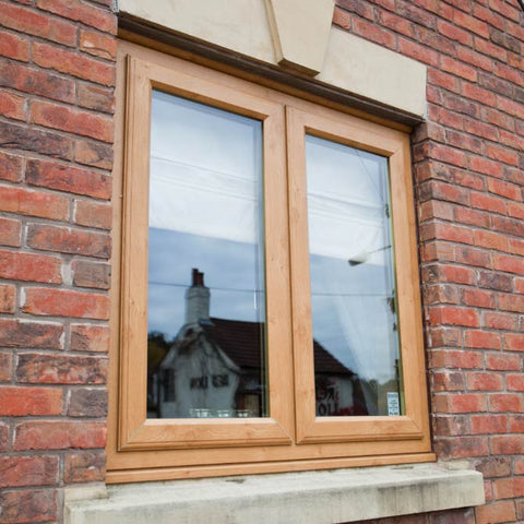 uPVC Casement Window Light Oak Small
