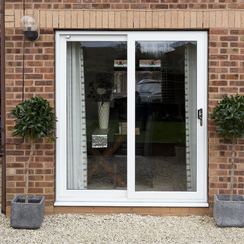 UPVC Double Patio Doors White