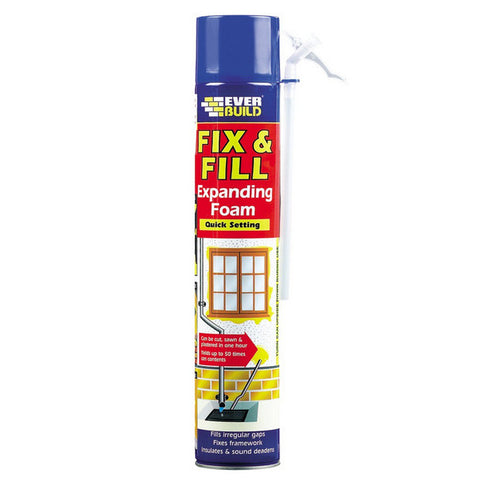 Ever Build Fix & Fill Expanding Foam Quick Setting 750ml