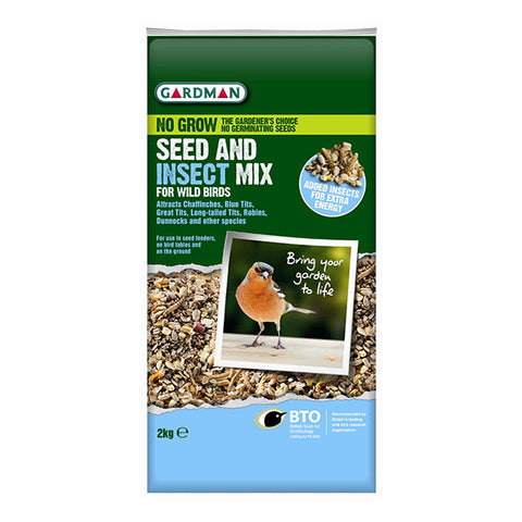Gardman No Grow Seed and Insect Mix 2Kg