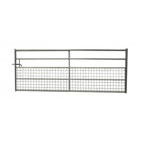 Half Meshed Box End Galvanised Gate 5 Railed