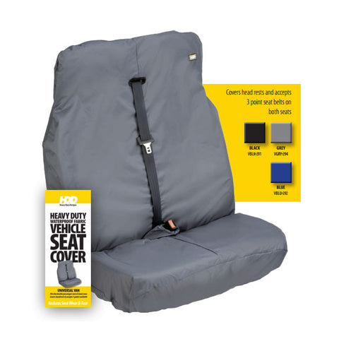 HDD Universal Van Front Passenger Double Seat Cover