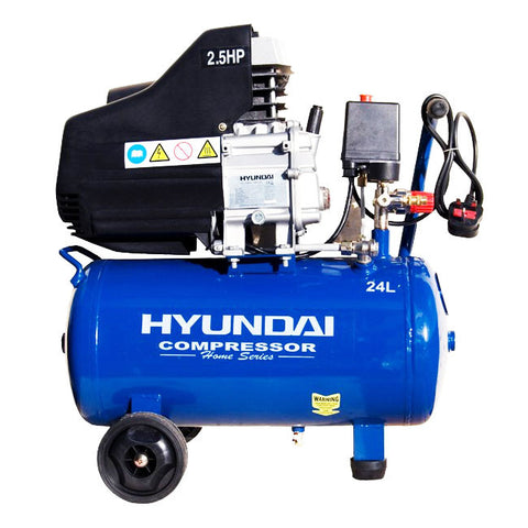 Hyundai Home Series Direct Drive Air Compressor 24 Litre 2.5hp HY2524